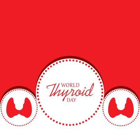 Vector illustration of World Thyroid Day poster with illustration of thyroid gland