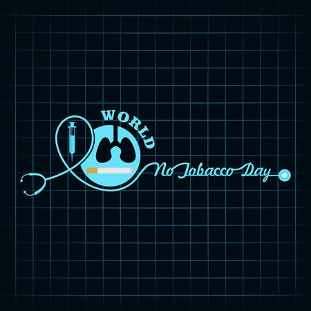 Vector illustration,poster or banner for world no tobacco day Illustration