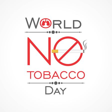 Vector illustration,poster or banner for world no tobacco day Иллюстрация