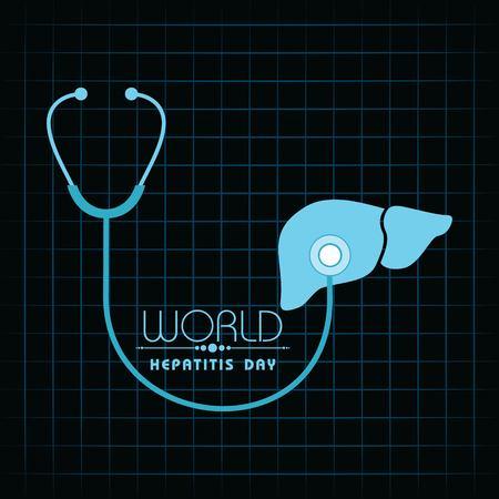 Vector illustration of World Hepatitis Day stock image and symbols Ilustrace