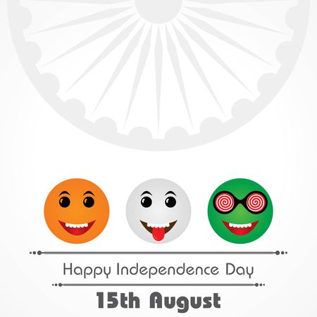 Vector Illustration of Indian Independence Day concept background with Ashoka wheel Ilustracje wektorowe