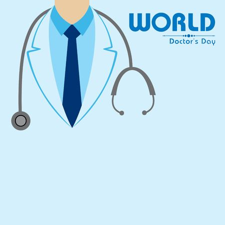 Vector illustration of National Doctors Day stock image and symbols Illustration