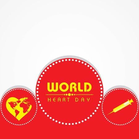Vector illustration World Heart Day Background on 29 september