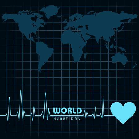 Vector illustration World Heart Day Background on 29 september