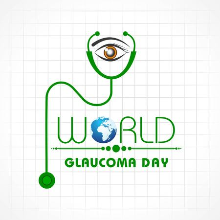 Vector illustration of a Background for World Glaucoma Day- 12 March Vector Illustration