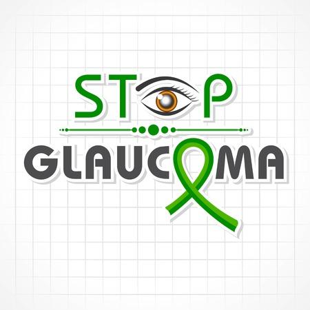 Vektor-Illustration eines Hintergrunds für den Welt-Glaukom-Tag - 12. März