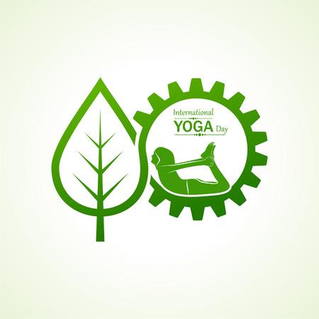 illustration of woman doing YOGASAN for International Yoga Day on 21st June
