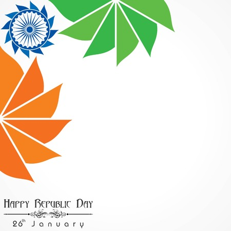 Happy Republic Day of India illustration, poster design