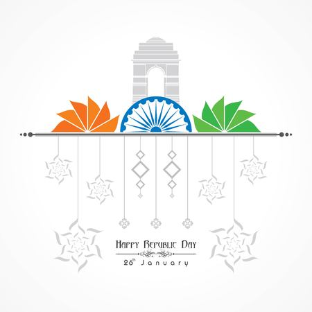 Happy Republic Day of India illustration, poster design