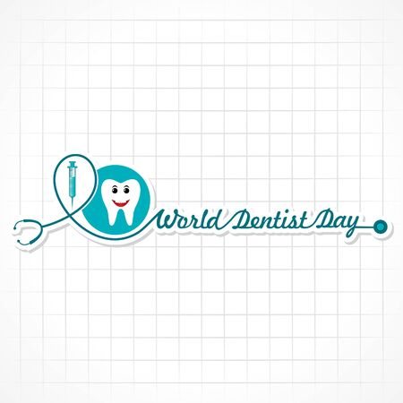 World Dentist Day design, 6 March ,vector illustration Ilustração