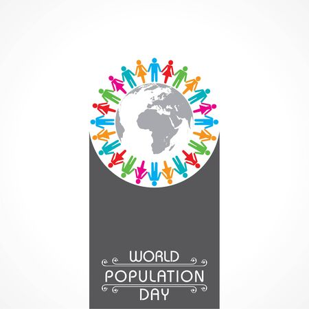Illustration of World Population day Greeting-11 july