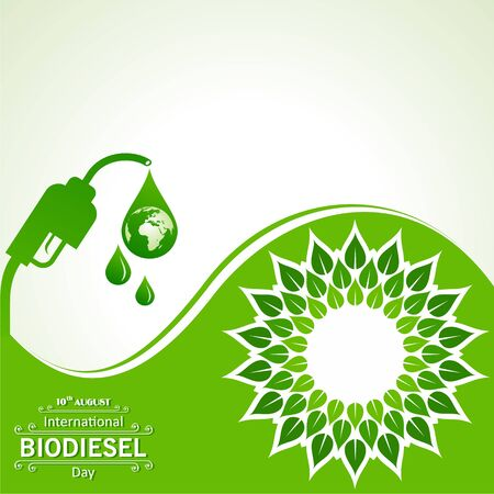 Illustration of International Biodiesel Day Greeting for Eco Environment - 10 August Vectores