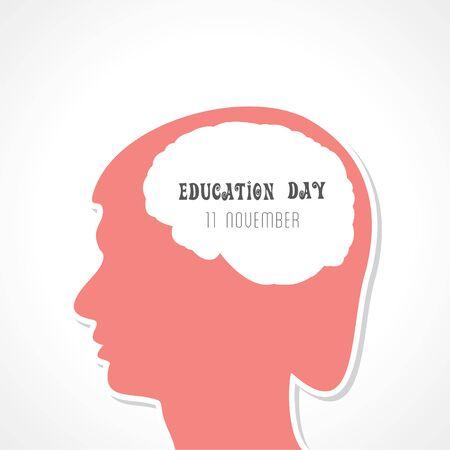 Illustration for education day greeting - 11 November Stock Illustratie