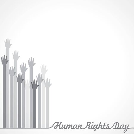 International Human Rights Day Stock Vector -10 December