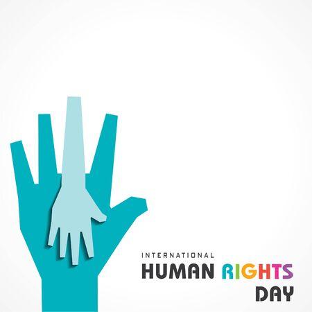 International Human Rights Day Stock Vector -10 December Stock Illustratie
