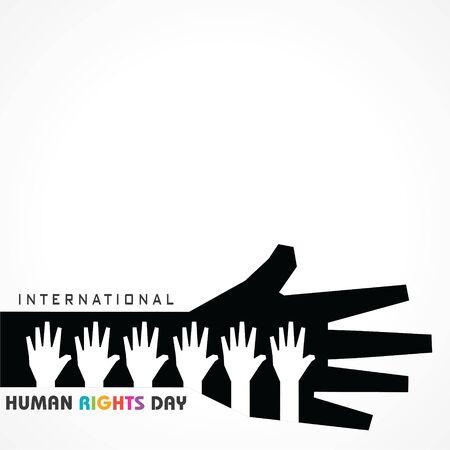 International Human Rights Day Stock Vector -10 December Vettoriali