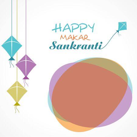 Illustration of greeting for Makar Sankranti Festival stock vector