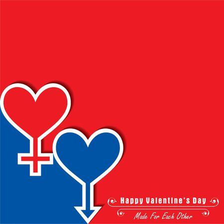 Illustration of Happy Valentines Day Greeting Stock vector Archivio Fotografico - 140261713
