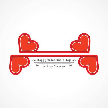 Illustration of Happy Valentines Day Greeting Stock vector Stock Illustratie