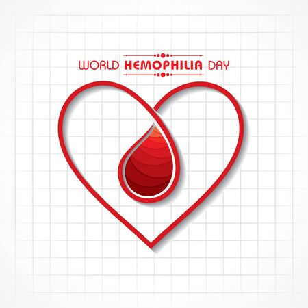 Vector illustration of a background for World Hemophilia Day -17th April