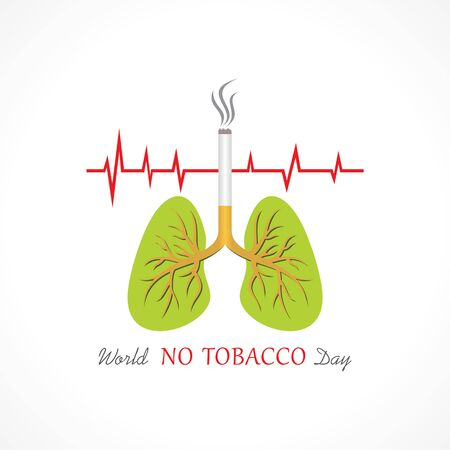 世界上没有烟草日的世界的例证,5月31日,戒烟概念