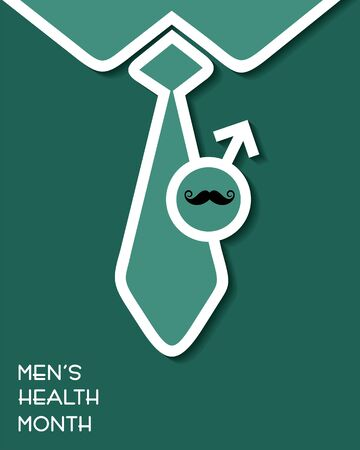 Vector illustration for men's health awareness month which is observed in month of JUNE Vetores