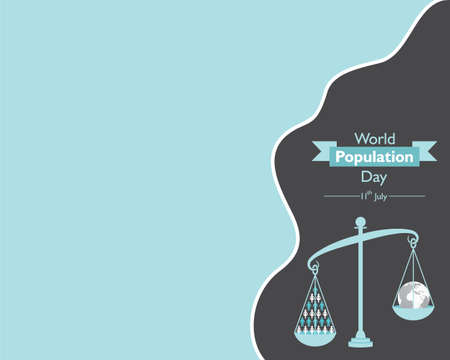 Illustration of World Population Day observed on 11th July Stock Illustratie