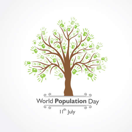 Illustration of World Population Day observed on 11th July Illustration