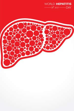 Illustration,poster or banner of World Hepatitis Day observed on 28 July Vecteurs