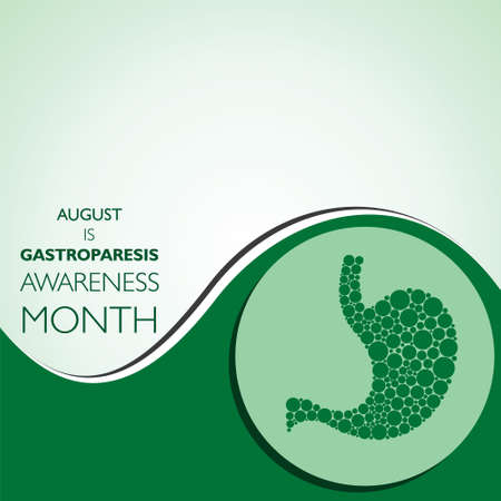 Vector Illustration of Gastroparesis Awareness Month observed in August