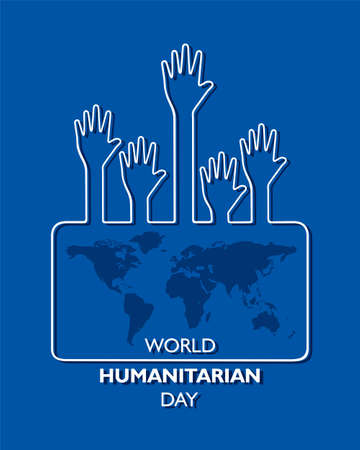 Vector Illustration of World Humanitarian Day observed on 19th August Vecteurs