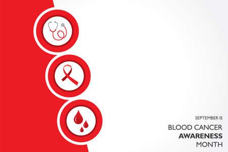 Vector illustration of Blood Cancer Awareness Month observed in September.