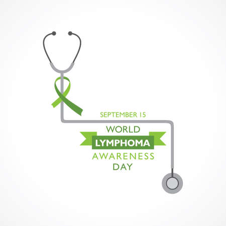 Vector illustration of World Lymphoma Awareness Day observed on September 15th Stock fotó - 155425994