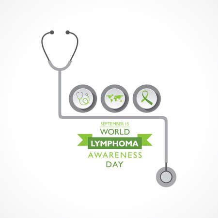 Vector illustration of World Lymphoma Awareness Day observed on September 15th Illustration
