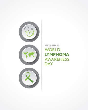 Vector illustration of World Lymphoma Awareness Day observed on September 15th Stock fotó - 155425996