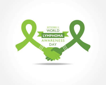 Vector illustration of World Lymphoma Awareness Day observed on September 15th Illusztráció