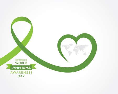 Vector illustration of World Lymphoma Awareness Day observed on September 15th Stock fotó - 155426001