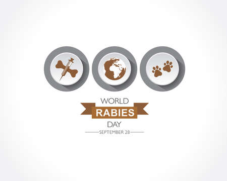 Vector Illustration of World Rabies Day concept observed on September 28th Illustration