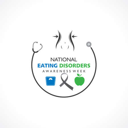 Vector illustration of National Eating Disorders Awareness Week observed during last week of February