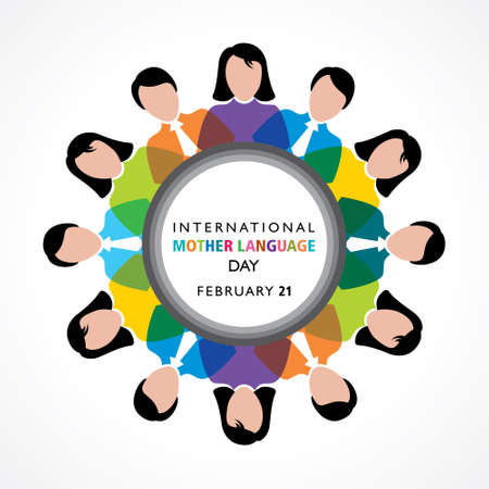 Vector Illustration of International Mother Language Day observed on February 21 English translation is hello