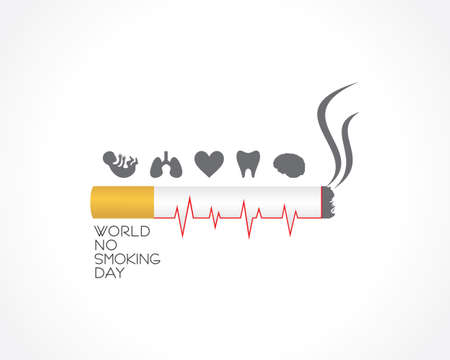 Vector illustration of World No Smoking day observed on second Wednesday of march