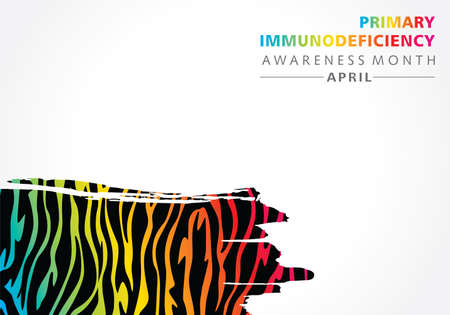 Vector Illustration of Primary Immunodeficiency Awareness month observed in April