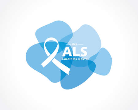 Vector Illustration of ALS(Amyotrophic lateral sclerosis) Awareness Month. Annual campaign is held in May in United States.