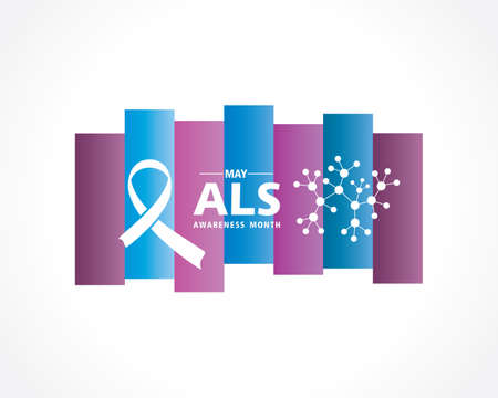 Vector Illustration of ALS(Amyotrophic lateral sclerosis) Awareness Month. Annual campaign is held in May in United States. Vector Illustration