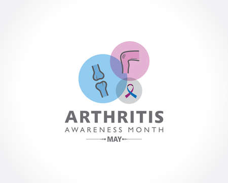 Vector Illustration of Arthritis Awareness Month observed each year in May. it is a common condition that causes pain and inflammation in a joint.
