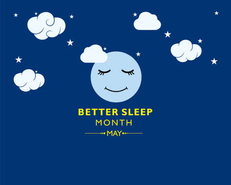 Vector Illustration of Better Sleep Month observed each year in May.