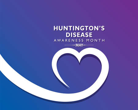Vector Illustration of Huntington Disease Awareness Month observed in May. It is a progressive brain disorder that causes uncontrolled movements, emotional problems, and loss of thinking ability.