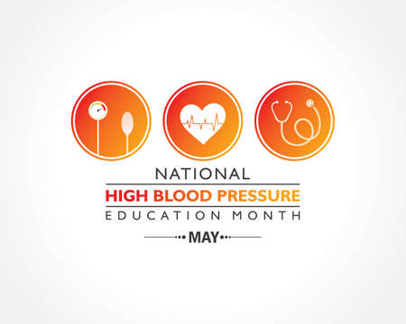 Vector Illustration of National High Blood pressure (HBP) Education Month is observed in May. It is also known as Hypertension.