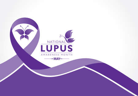 Vector Illustration of Lupus Awareness Month observed in May.