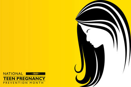 Vector Illustration of National Teen Pregnancy Prevention Month observed in May across United States of America.